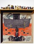 Blood Ark<br>Collage, biro, marker pen & coloured pencil on paper, 42 x 42 cm