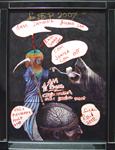 Evil Brain Rejector<br>Biro and permanent marker pen on paper 61 x 42 cm