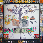 Zis Is Black Ark<br>Collage, biro, & pencil on paper, 42 x 42 cm